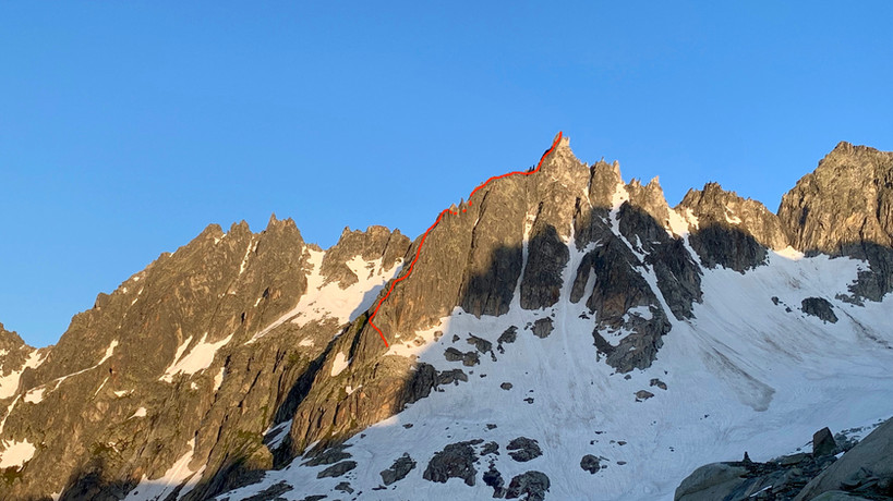 Gross Furkahorn Südostgrat, Klettern, Topo