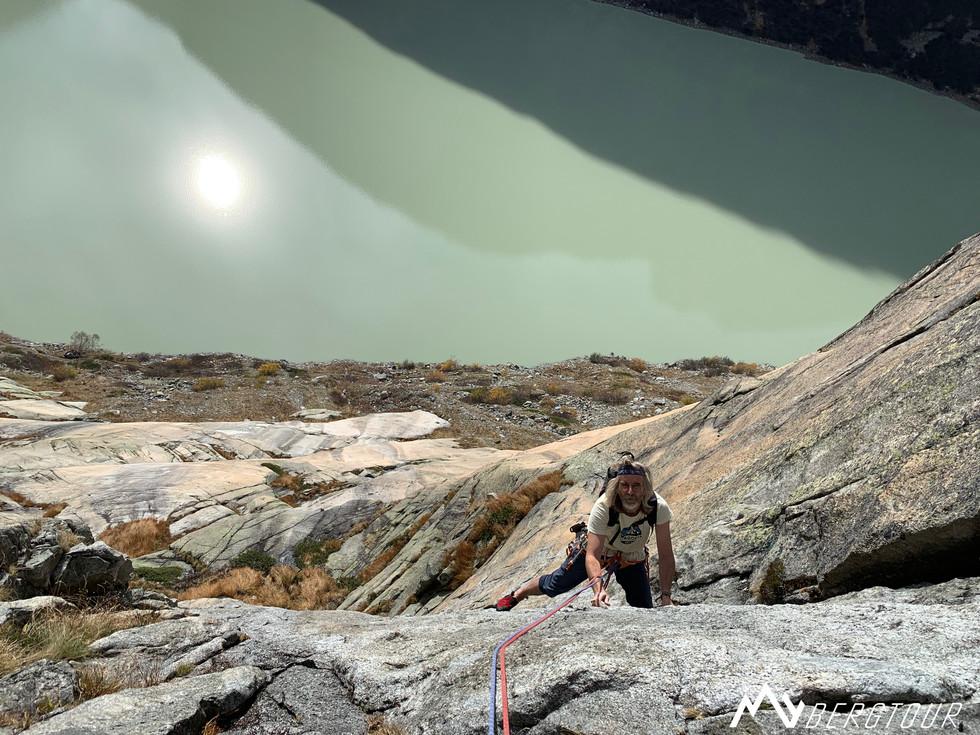 Klettern im Eldorado mit Bergführer in Schweiz Plaisir