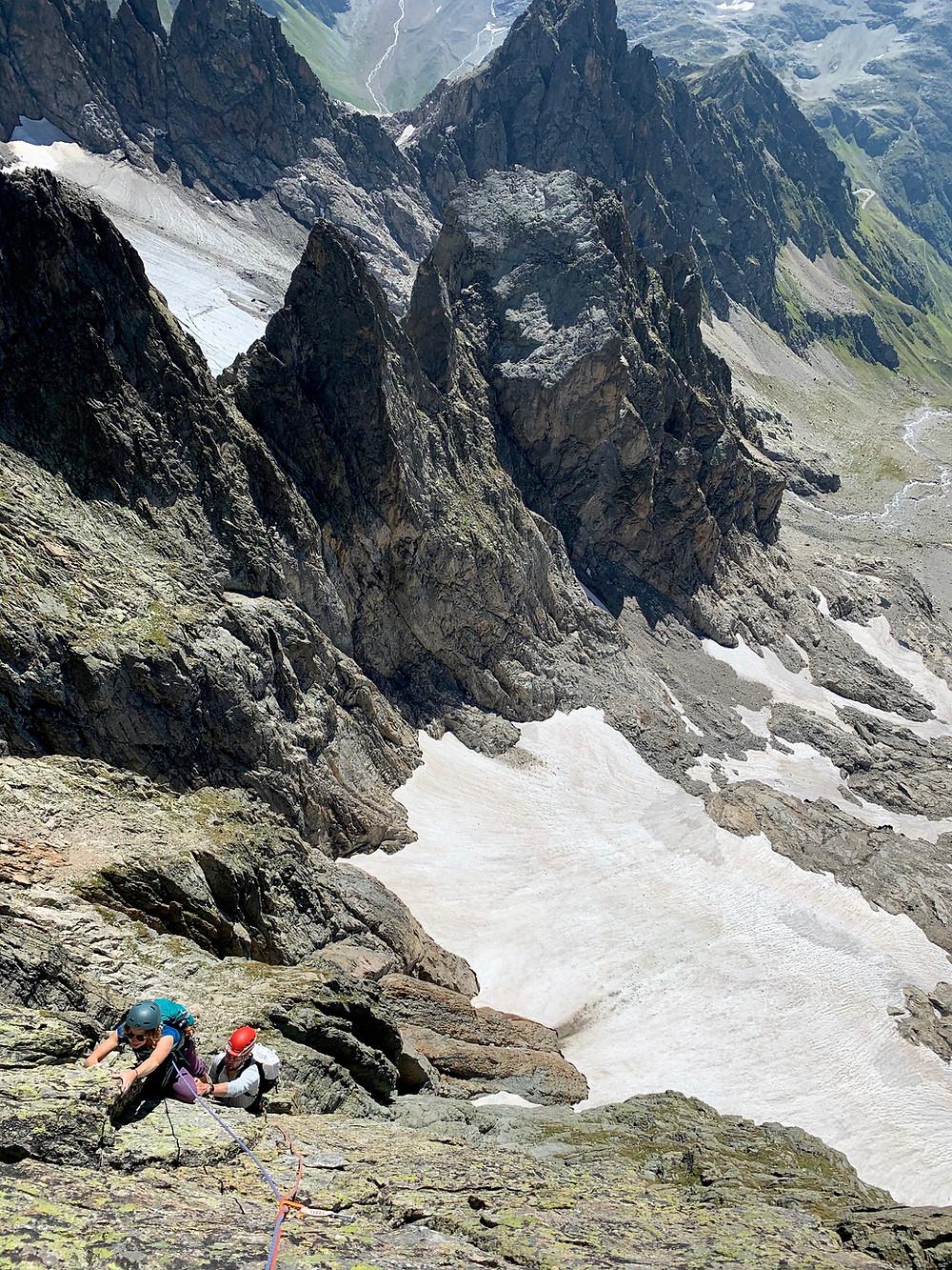 Kletterer in Bohrgeist
