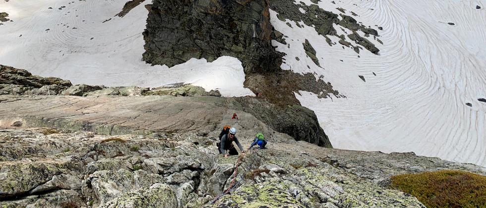Bergseeschijen Südgrat, Klettern, Bergführer, Platten