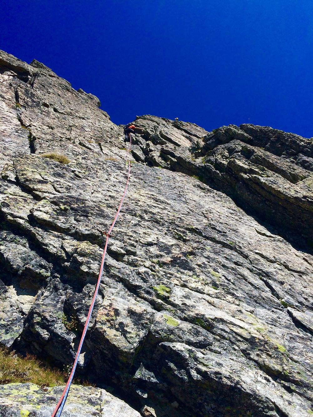Headwall der Klettertour Bohrgeist