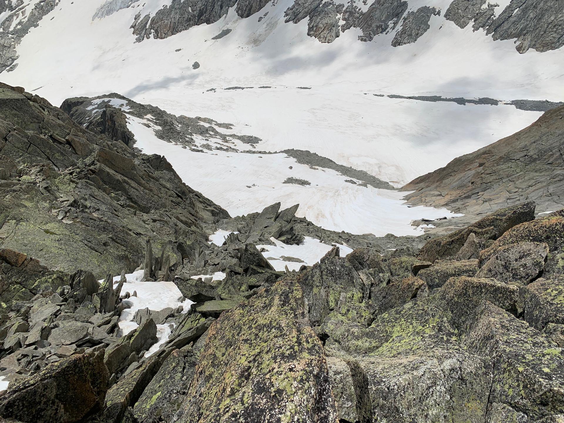 Gletschhorn Südgrat Abstieg