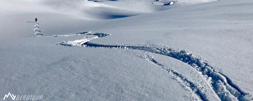 Skitour mit den Bergführern von mybergtour Pulver