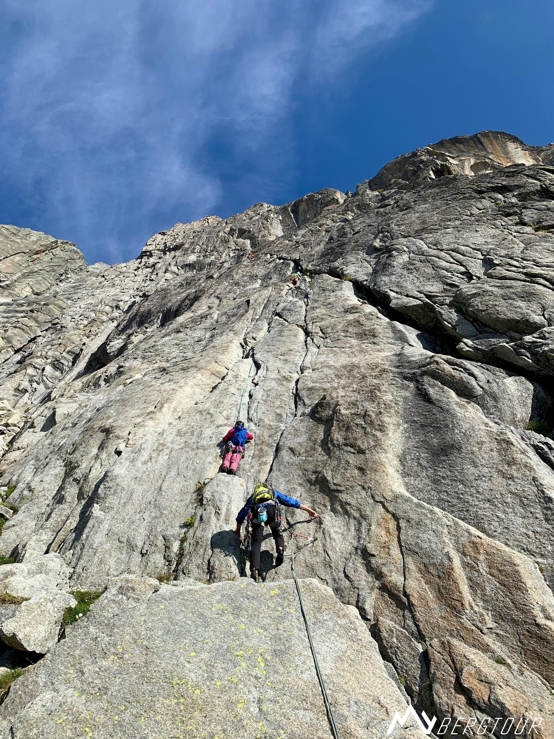 Klettern Klettern Furka Graue Wand Niedermann Einstieg