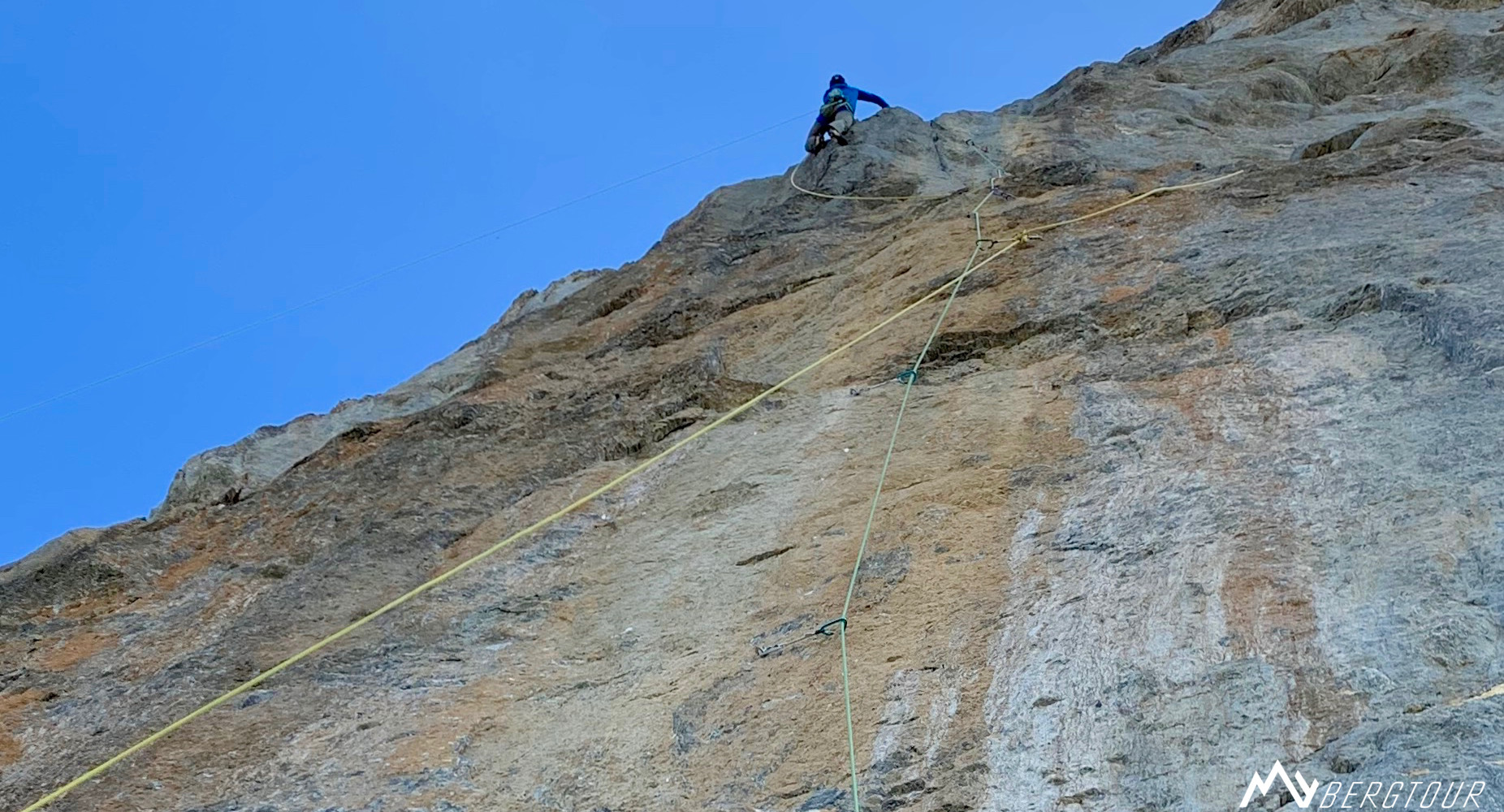 Eigernordwand Einstieg Golden Shower L7