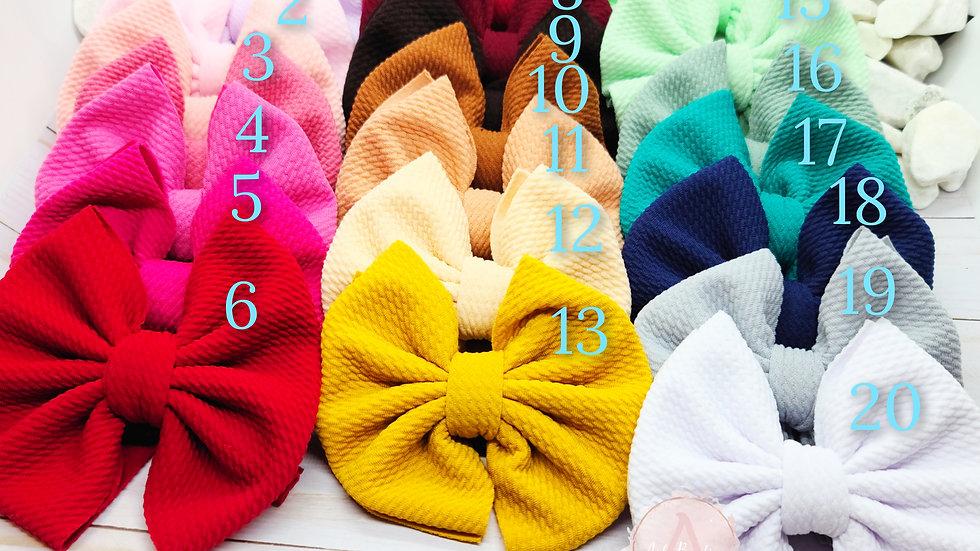 Big bows w/nylon headbands