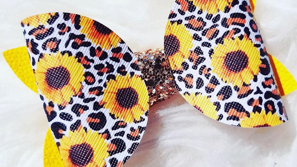 Faux Cheetah & Sunflower