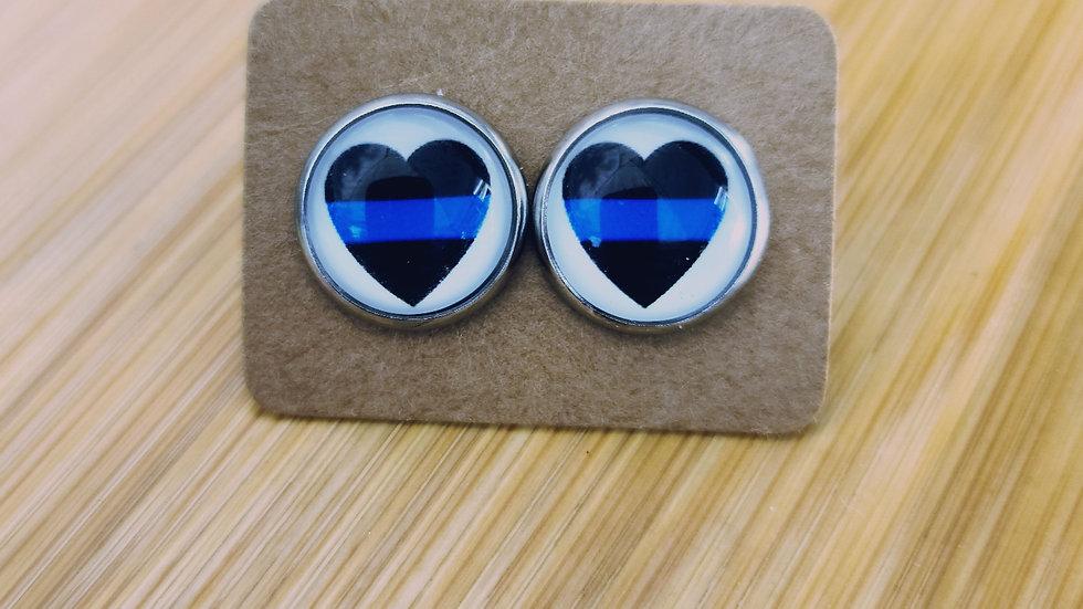 Blue Line Heart