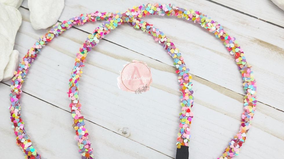 Sparkle Heart Headbands