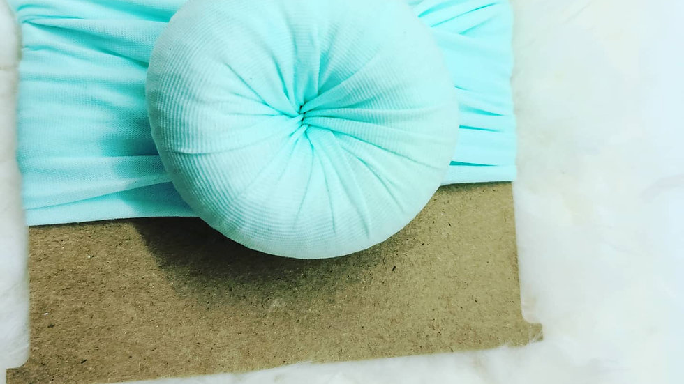 Aqua donut headwrap