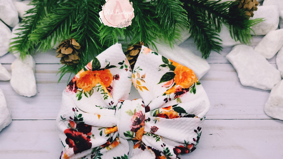Soft Floral Messy Bow