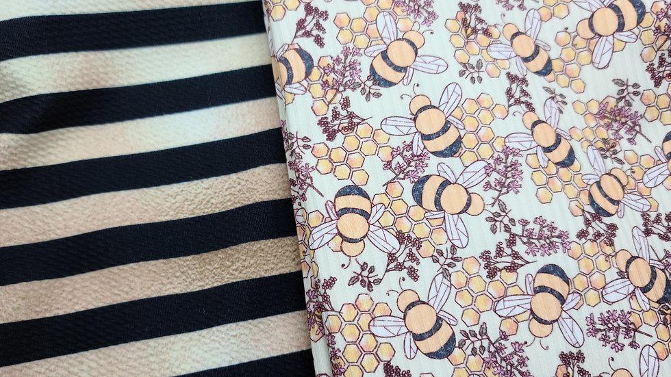 Crop + Bummie set (Honey Bee)