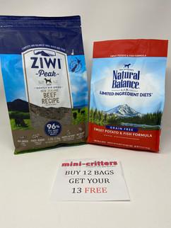 Left: Ziwi Peak Right: Natural Balance