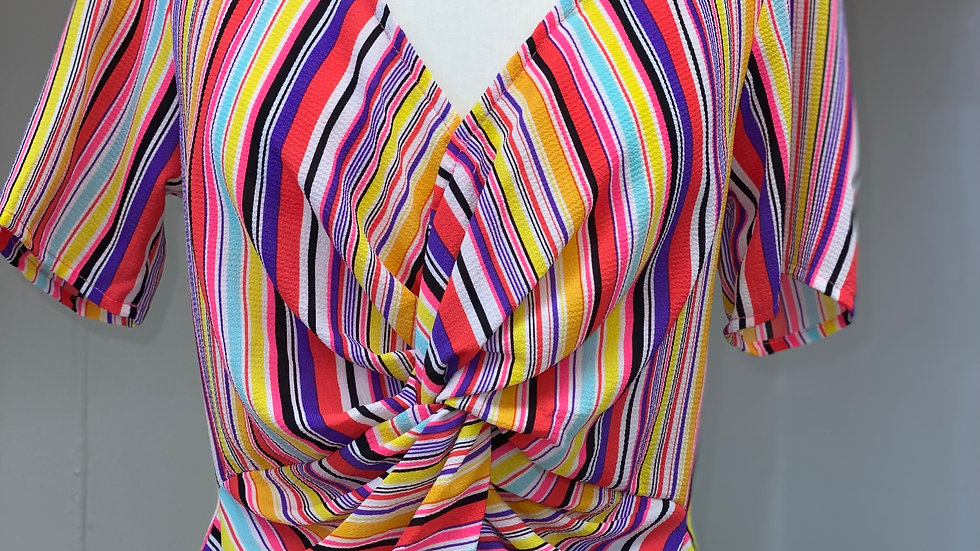 Rainbow Knotted Center Top