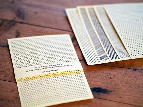 Postkarten Muster A6 im Set