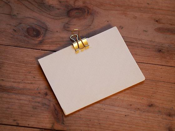 Notizpapier A6 mit Muster und Klammer