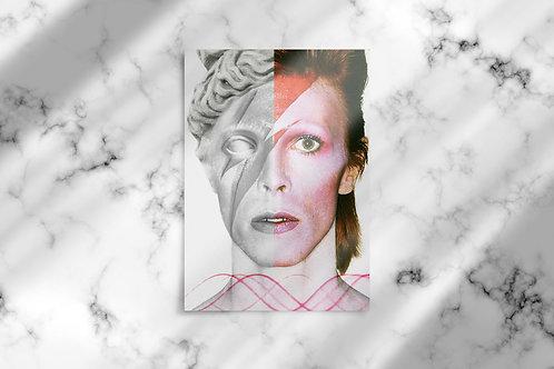 David Bowie Wall Print on 20 x 16 inch. Canvas