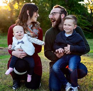 Family having fun in the park