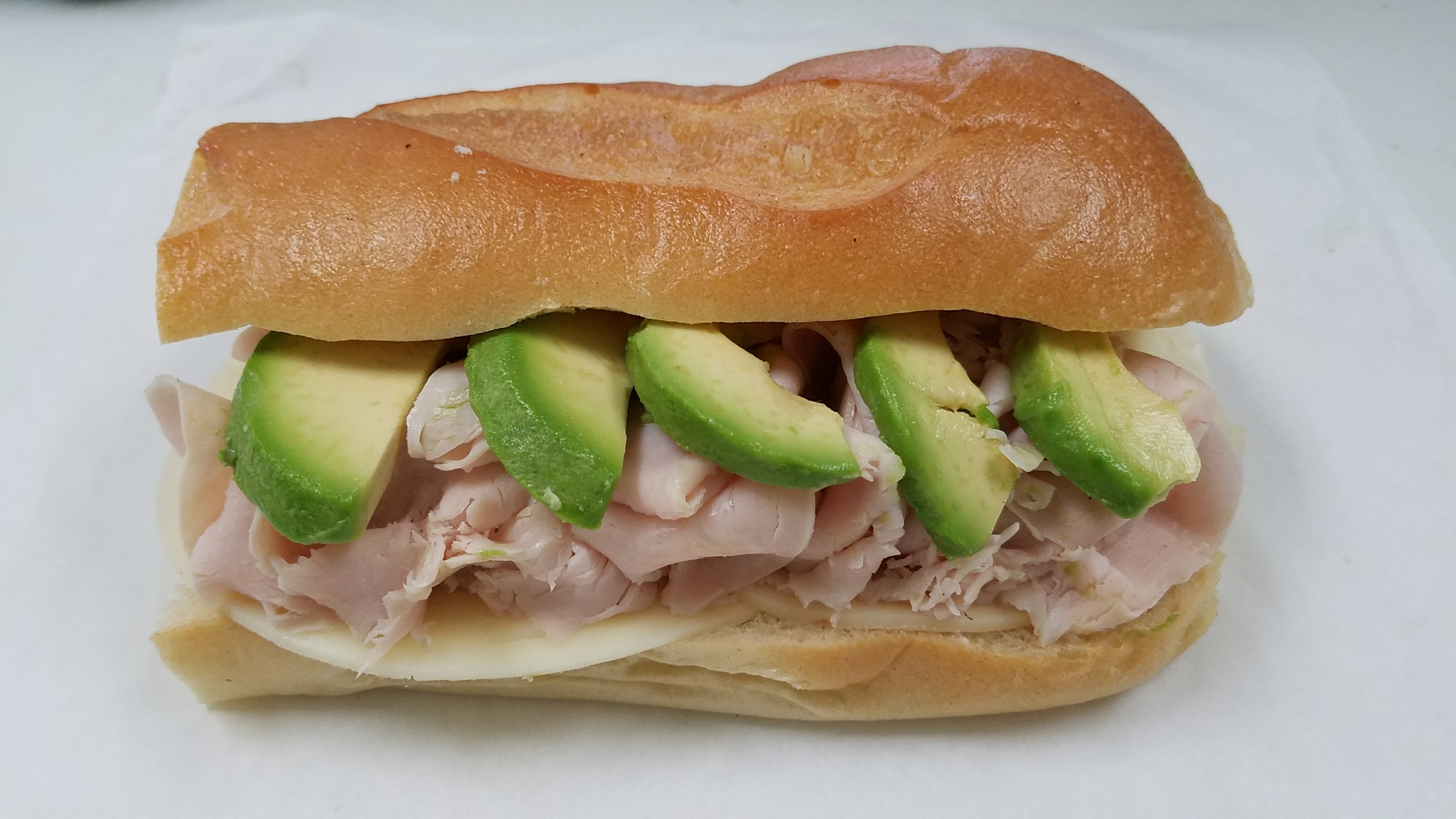 turkey and avocado sub