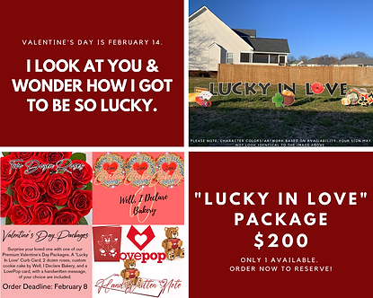 """""""Lucky In Love"""" Premium Package"""