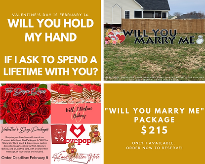 """""""Will You Marry Me"""" Premium Package"""