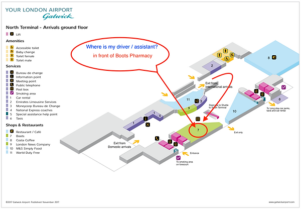 mapa for gatwick north meeting point