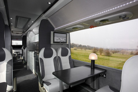 Luxury minibus, with tables