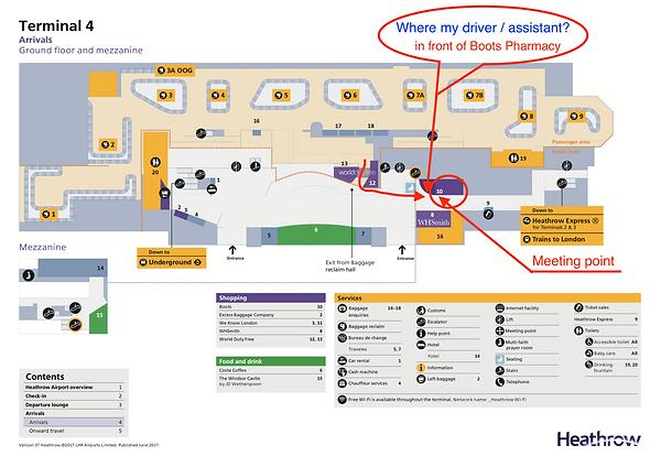 Heathrow terminal 4 metting point