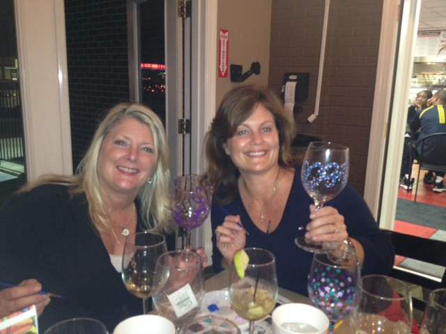 Wine Glass Painting Class with Andy