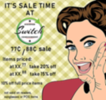 Switch Consignment pricing sale