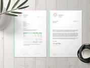 Illigen Coach & Consult Letter & Invoice template