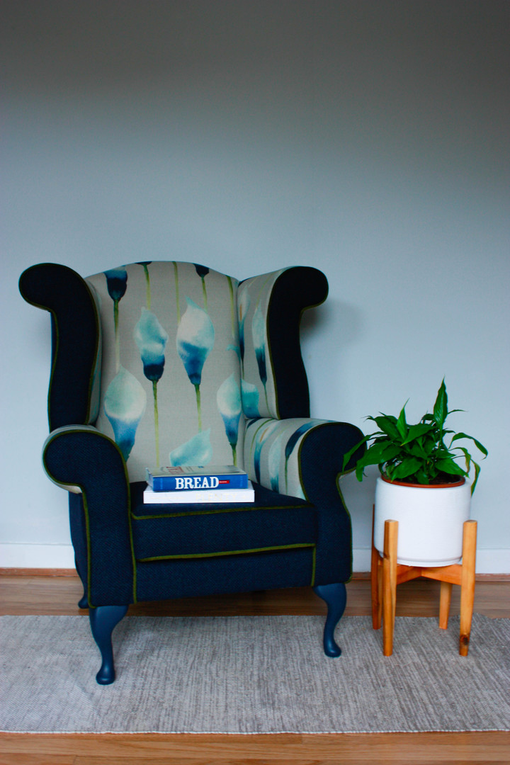 Watercolour Blue Armchair
