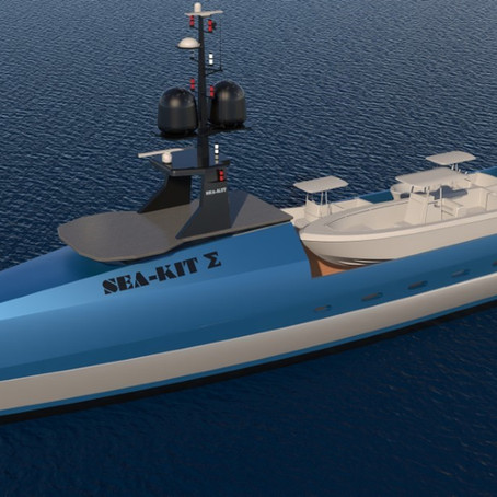 PRESS RELEASE - SEA-KIT unveils uncrewed superyacht support vessel concept