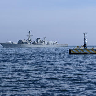 SEA-KIT USV & naval vessel