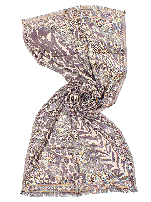 STOLA JACQUARD ANIMALIER PATCH
