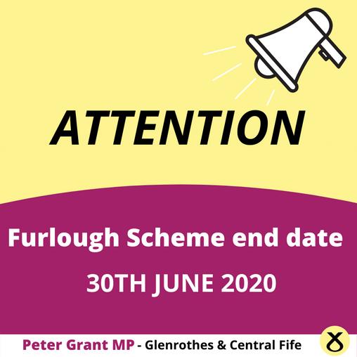 PETER GRANT MP REMINDS EMPLOYERS OF FURLOUGH CUT OFF DATE
