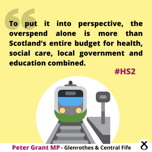 """PETER GRANT MP SAYS THERE'S """"NO EXCUSE"""" FOR HIDING HS2 PROBLEMS FROM PARLIAMENT"""