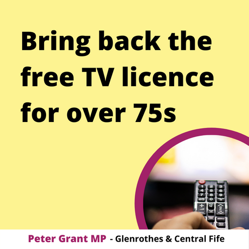 TORY TV LICENCE CUTS COST SCOTTISH PENSIONERS £40MILLION IN 2020