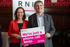 Peter Grant MP meeeting Ellie Southwood from RNIB