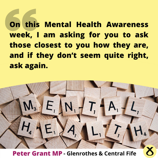 MENTAL HEALTH AWARENESS MORE IMPORTANT THEN EVER, SAYS MP