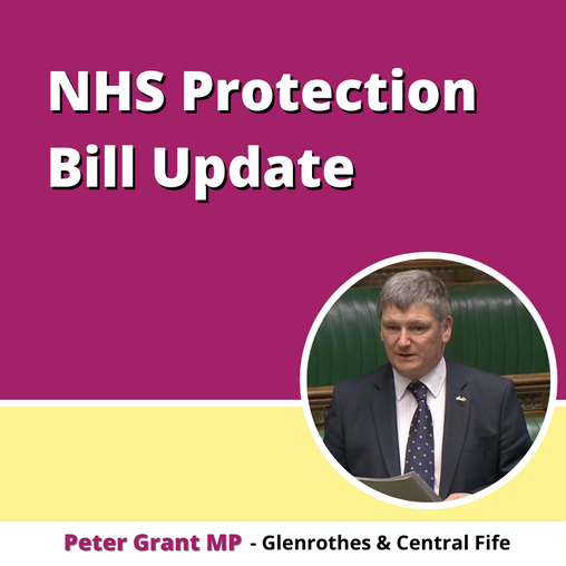 END OF THE ROAD FOR MY NHS PROTECTION BILL