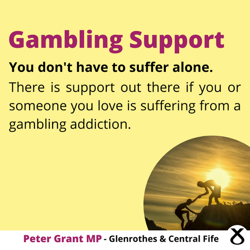 GOVERNMENT FAILING TO PROTECT PROBLEM GAMBLERS SAYS MP