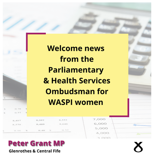 WELCOME NEWS FOR WASPI WOMEN
