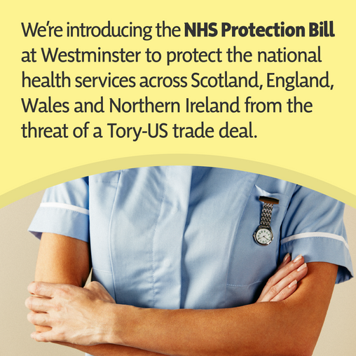 """PETER GRANT: """"OUR NHS IS NOT FOR SALE. NOT TO ANYBOD, NOT AT ANY PRICE. NOT NOW AND NOT EVER."""""""