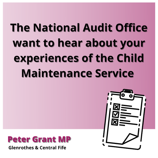 CALLING FOR CONTRIBUTIONS TO CHILD MAINTENANCE STUDY