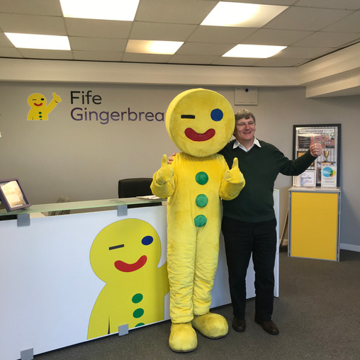 MP GIVES A THUMBS UP FOR FIFE CHARITY