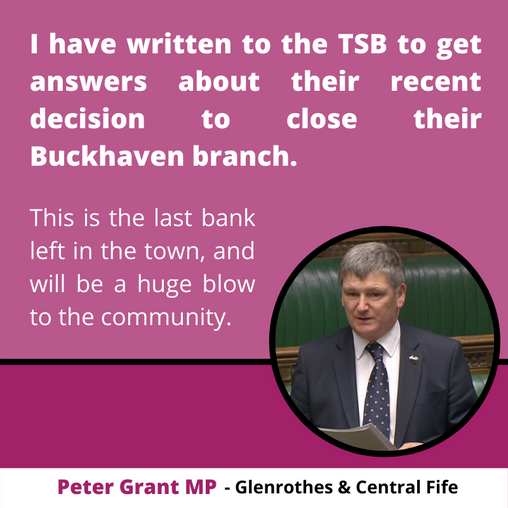 """PETER GRANT MP HITS OUT AS """"LAST BANK IN TOWN"""" SET FOR CLOSURE"""