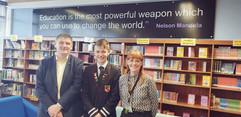 Peter Grant MP meeting Foundation Apprentice, Joe Pirrie