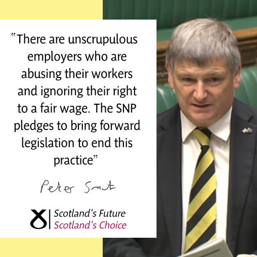 LOCAL SNP CANDIDATE WELCOMES COMMITMENT TO END UNPAID WORK TRIALS
