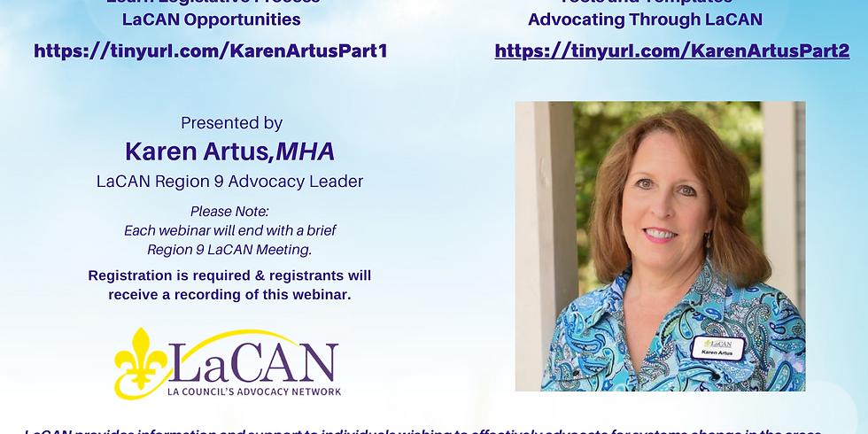Advocacy 101 -  Part Two with Karen Artus